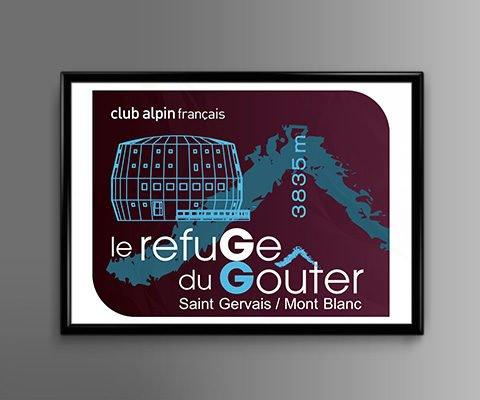 Logo - Refuge du Goûter - FFCAM